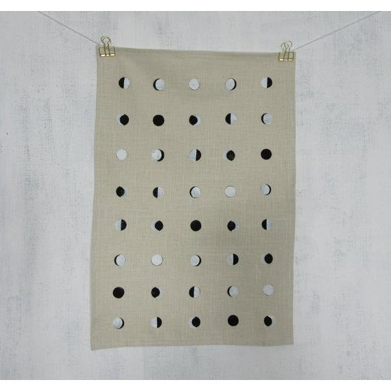 Cream Moon Tea Towel - Favor & Fern