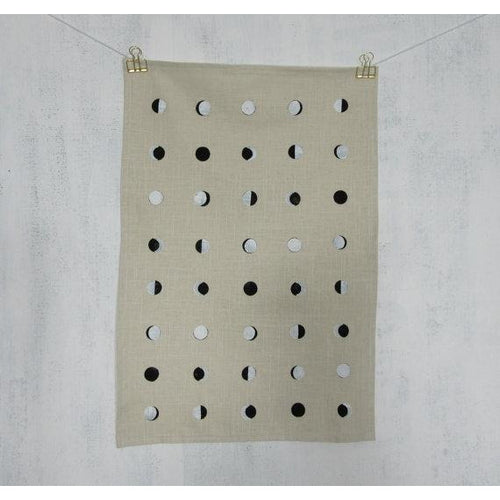 Cream Moon Tea Towel