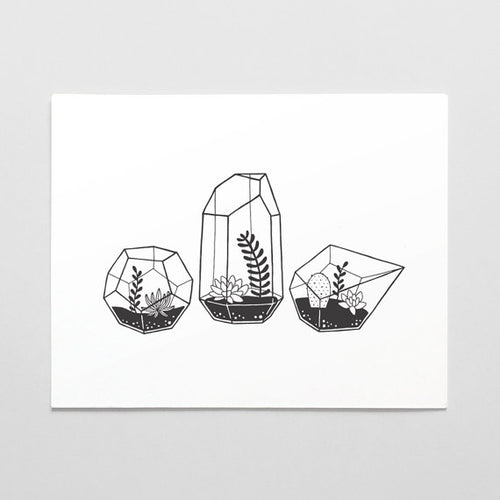 Terrarium Art Print - Favor & Fern