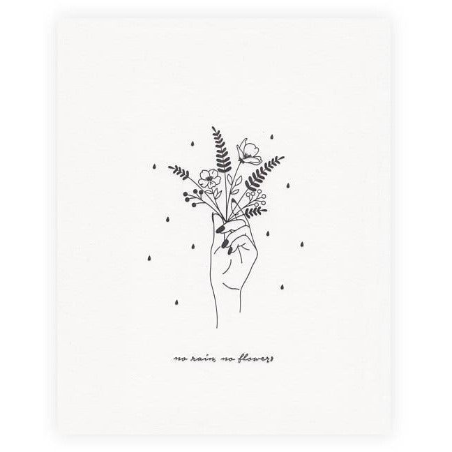 No Rain, No Flowers Print - Favor & Fern