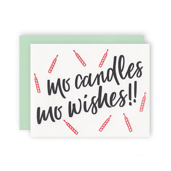 Mo Candles Mo Wishes!! Card