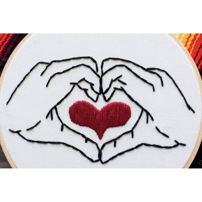 Heart in Your Hands Embroidery Art