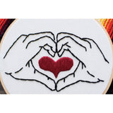 Heart in Your Hands Embroidery Art - Favor & Fern