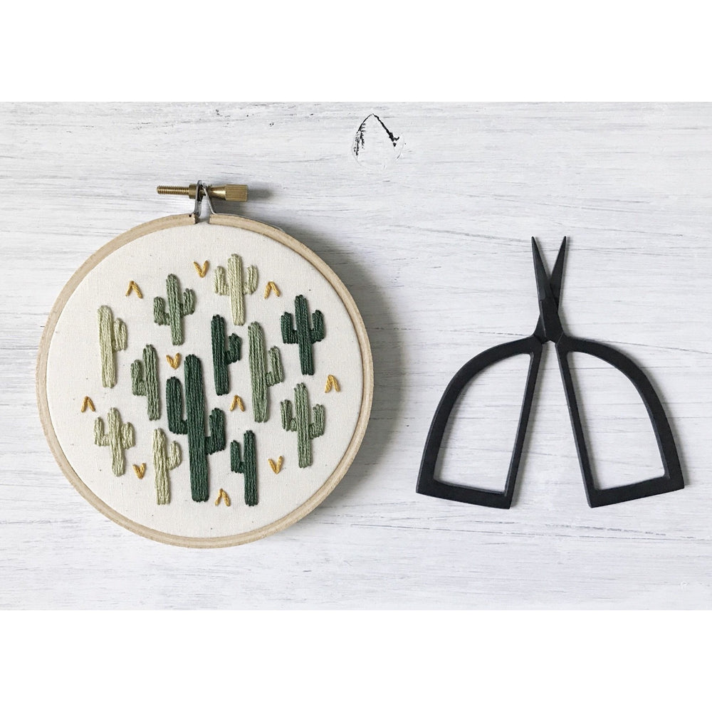 All The Cacti Embroidery Art - Favor & Fern