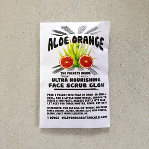 Load image into Gallery viewer, Aloe Orange Face Scrub Glow
