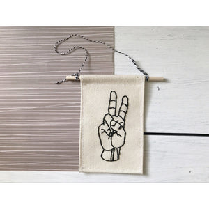 Mini Peace Sign Banner - Favor & Fern