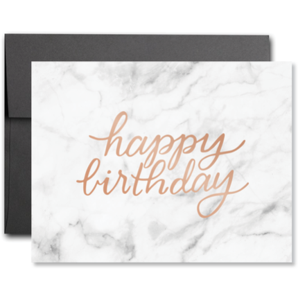 Marble Happy Birthday Foil Card