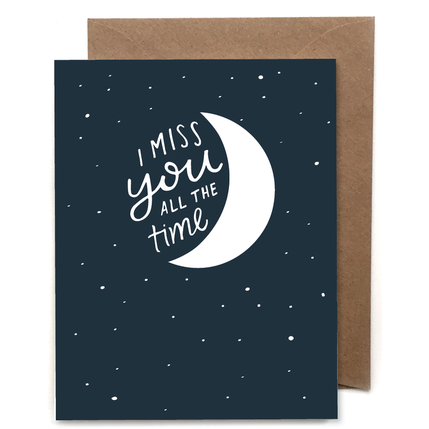 Miss You Moon Letterpress Card - Favor & Fern