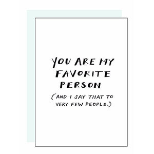 Load image into Gallery viewer, Favorite Person Letterpress Card - Favor & Fern
