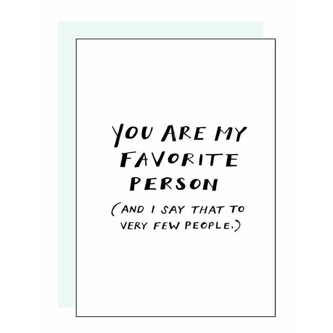 Favorite Person Letterpress Card
