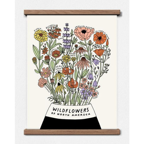 Wildflowers of North America Print - Favor & Fern