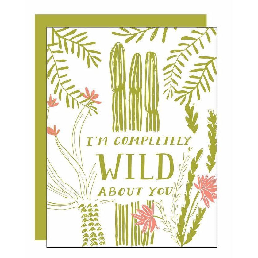 Load image into Gallery viewer, Wild About You Letterpress Card - Favor & Fern