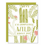 Wild About You Letterpress Card