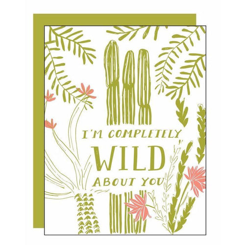 Wild About You Letterpress Card - Favor & Fern