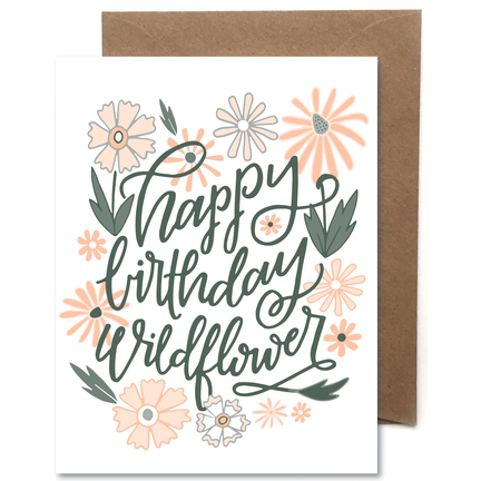 Wildflower Letterpress Card - Favor & Fern