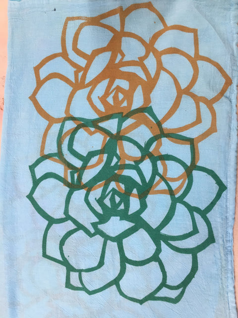 Round Succulent Kitchen Towel - Multiple Colors