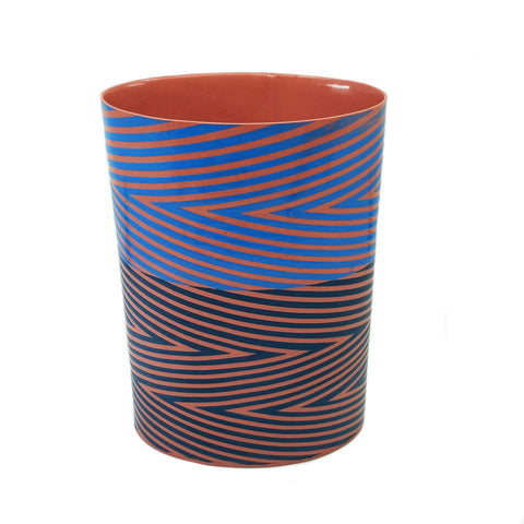 Pink and Blue Wrap Vase