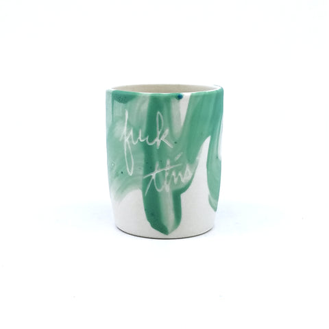 Green F This Shot Glass