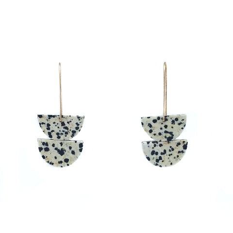 Double Dalmation Stone Earrings