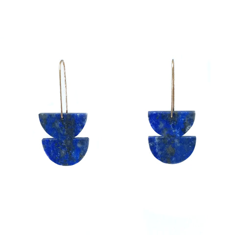 Double Lapis Lazuli Earrings