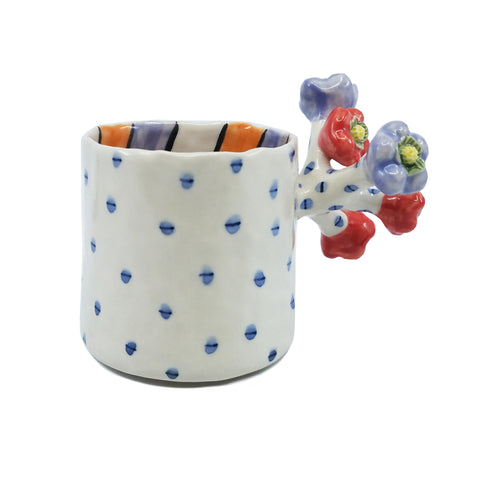 Flower Mug Orange / Purple