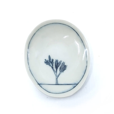 Tiny Oval Dish - Tree