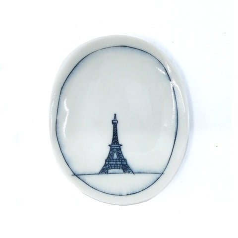 Tiny Oval Dish - Eiffel Tower