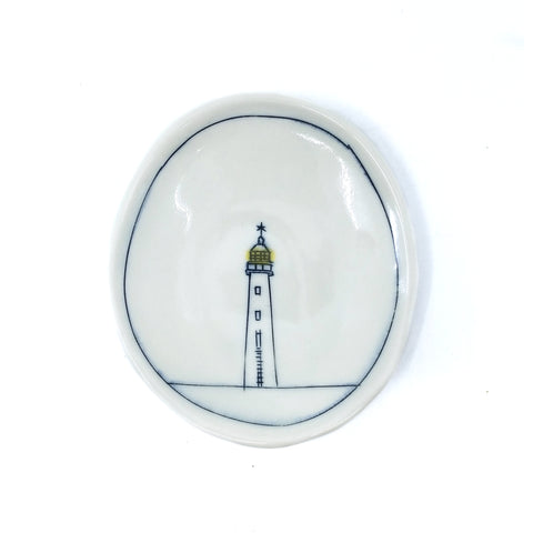 Tiny Oval Dish - Lighthouse