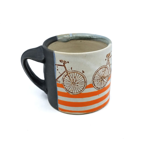 Bike w/ Orange Stripes Mug