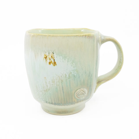 White and Light Green Mug 2