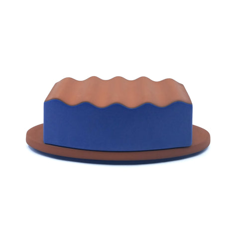 Covered Butter Dish - Blue