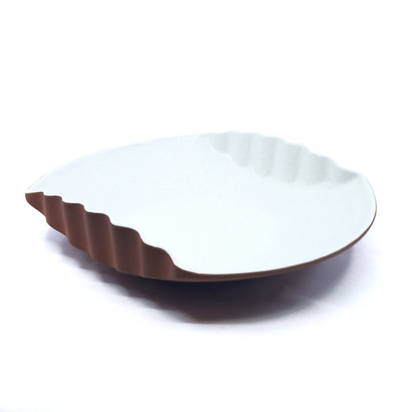 Small Corrugated Bowl - White