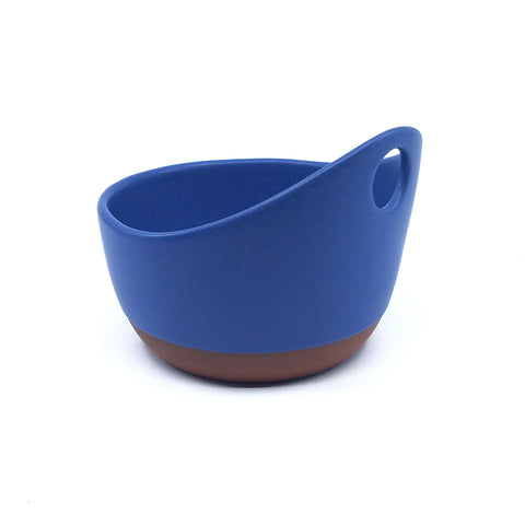 Handle Soup Bowl - Blue