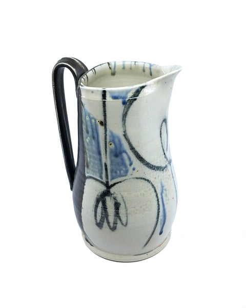 Pitcher with Crepe Myrtle Motif