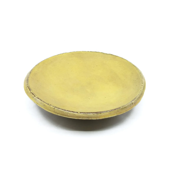 Yellow Small Round Plate
