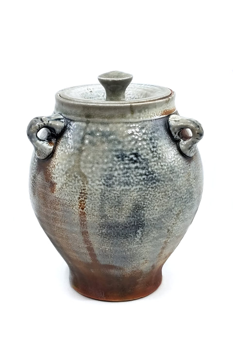 Soda Fired Lidded Jar
