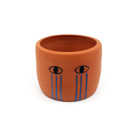 Small Terracotta Crybaby Planter