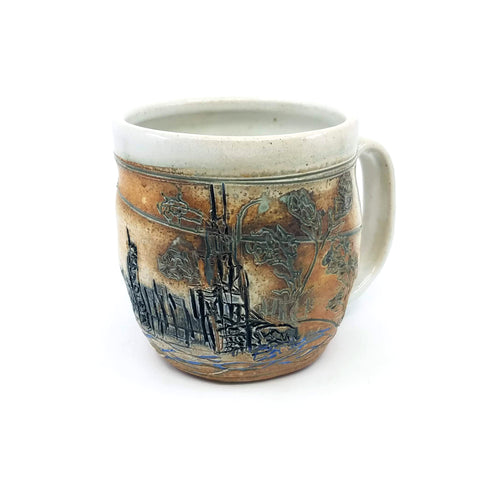Carved Chicago Skyline Mug