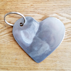 Steel Heart Keychain