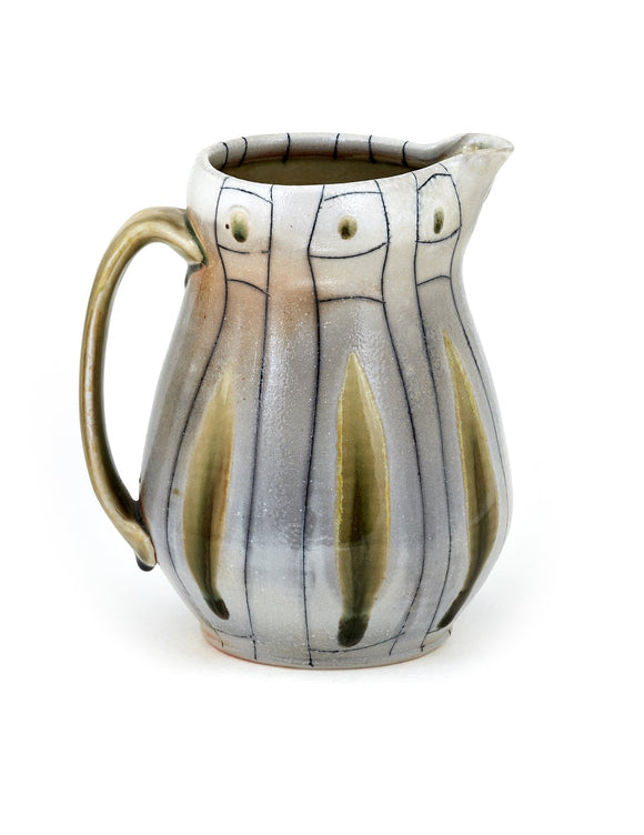 Handmade porcelain pitcher by Lorna Meaden