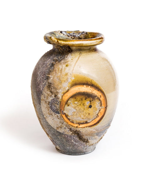 Handthrown wood-fired porcleain vase by Sam Hoffman