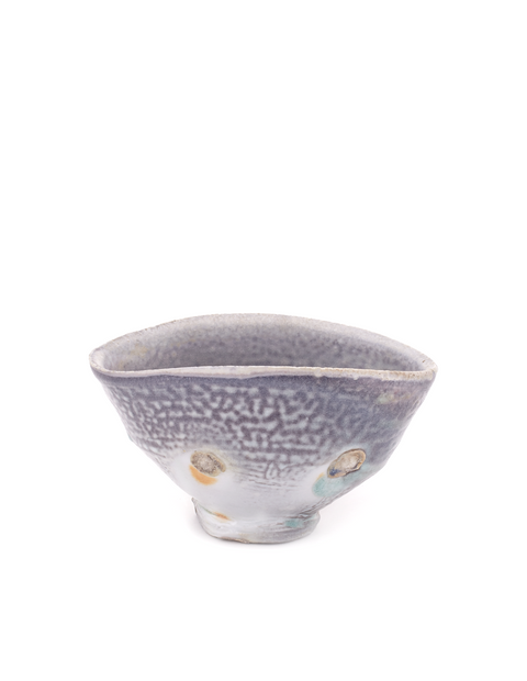 Anagama fired heavy ash glazed cereal bowl handmade by artist Nick Schwartz.