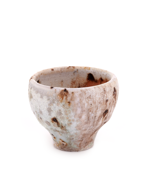 Handmade wood-fired porcelain tea cup by Perry Haas