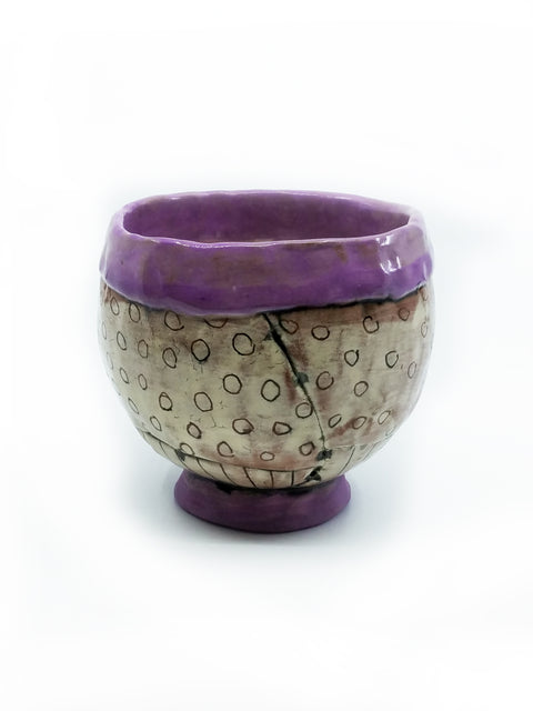 Purple Rim Bowl