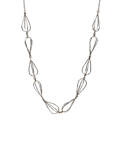 Sterling silver chain necklace handmade by Samantha Skelton.