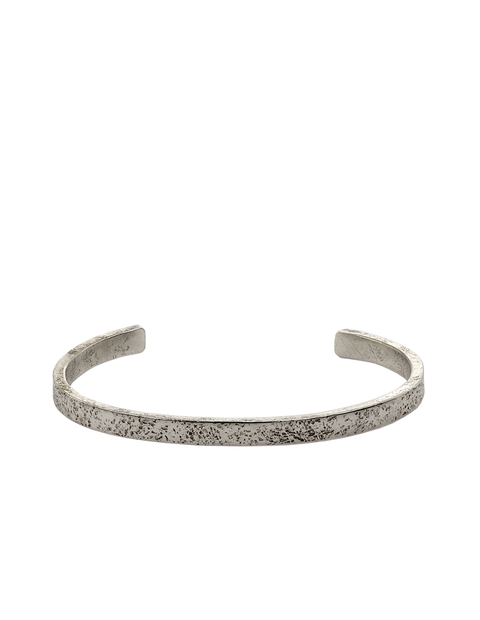 Thin sterling silver cuff bracelet handmade by Samantha Skelton.
