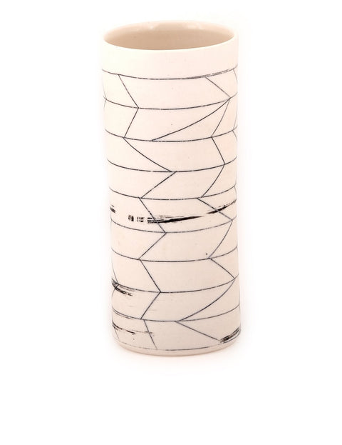 Handmade porcelain tumbler/cup by Bianka Groves