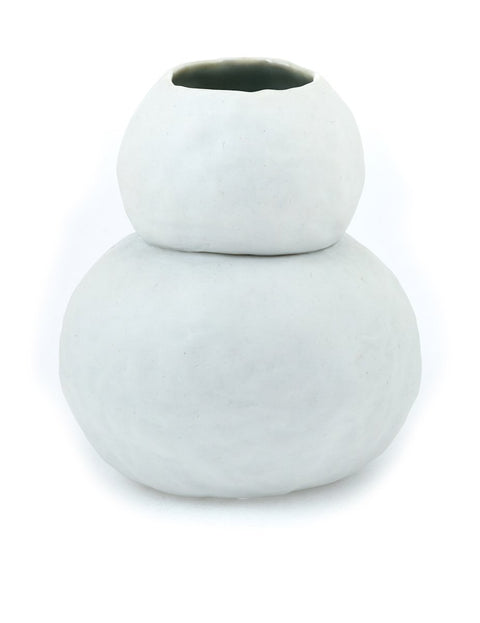 Porcelain stacked vase handmade by mary drabik