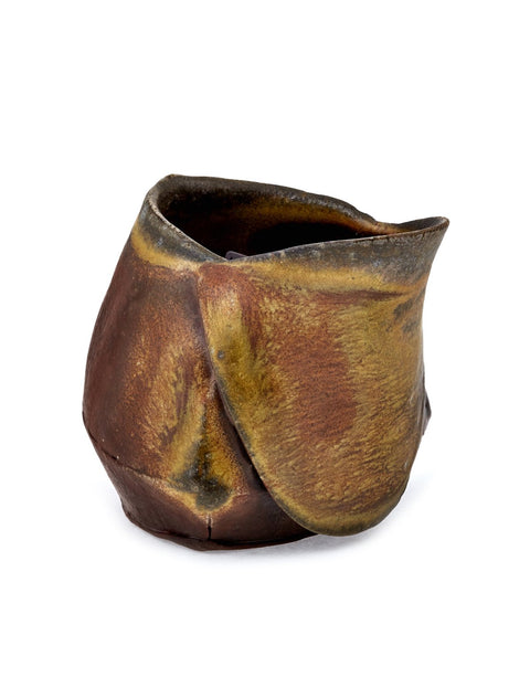 Wood-fired stoneware creamer handmade by Ian Conners.