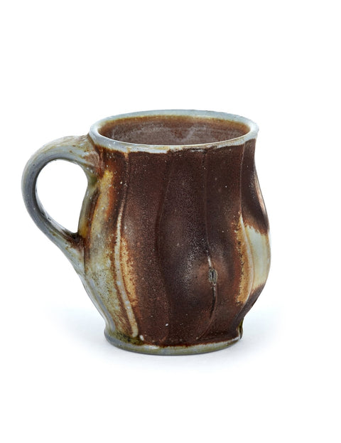 anagama wood fired porcelain  espresso mug handmade by justin lambert